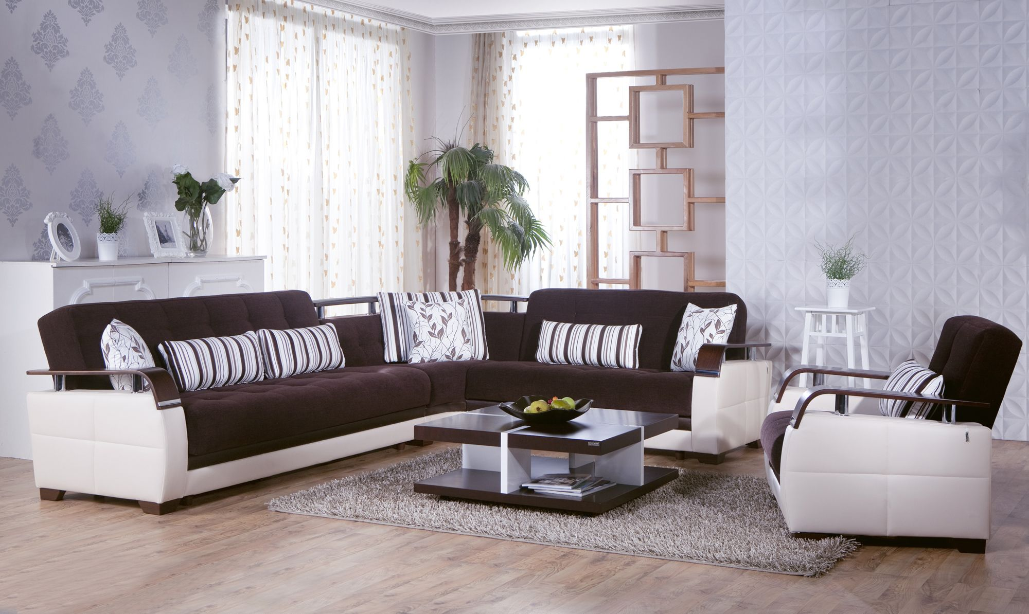 Natural Colins Brown Sectional Sofa by Sunset