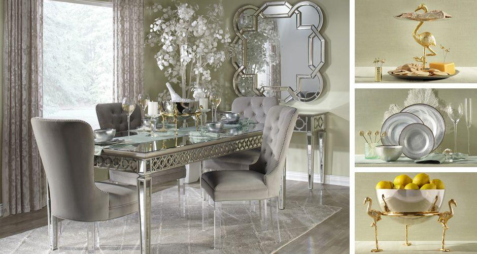 Sophie Elegant Glamour Dining Room Inspiration Z Gallery