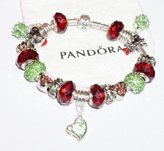 Romantic Red Kissing Couple Authentic Jared Pandora Bracelet
