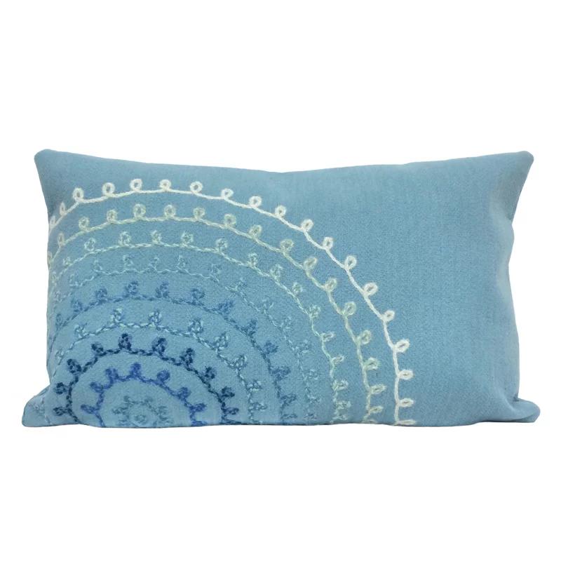 Lilian Ombre Threads Indoor Outdoor Lumbar Pillow Outdoor Throw Pillows Pillows Throw Pillows