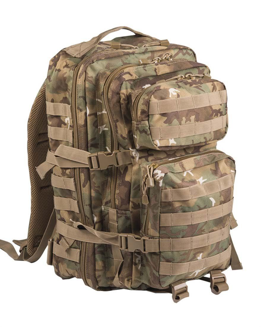 19b53eee5e Mil-Tec Military Army Patrol Molle Assault Pack Tactical Combat Rucksack  Backpack Bag 36L Arid Woodland Camo ** Remarkable outdoor item available  now.
