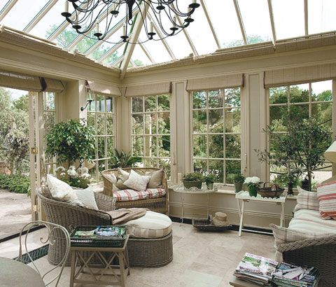 When The Conservatory Is Closely Surrounded By Gardens If Feels Less Exposed And More Intimate Conservatory Interiors Conservatory Interior Patio Room