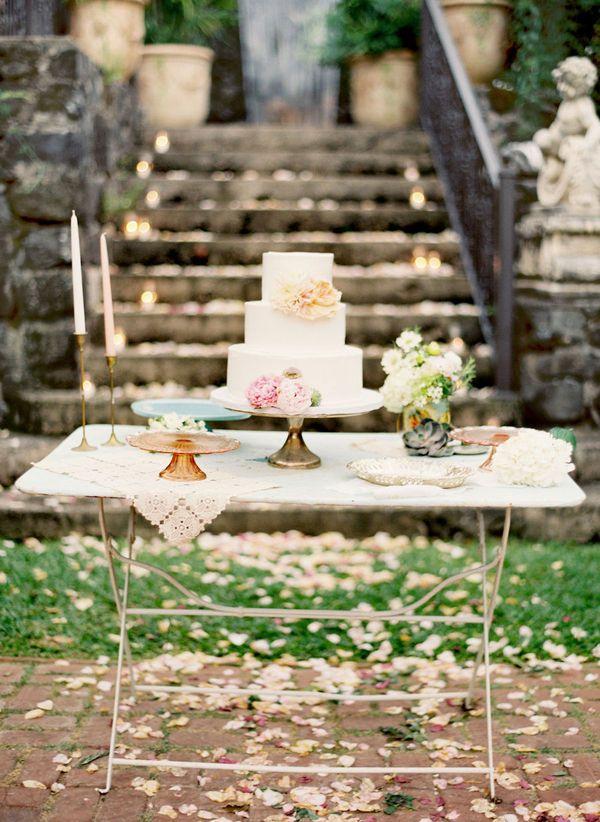 Mesa do bolo, simples e linda