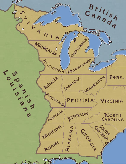 Map created by Thomas Jefferson for the partition of the Louisiana ...