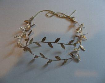 weddings,bridal accessories, hair, Grecian  headpiece, Roman headpiece,  woodland wedding, leaf headband