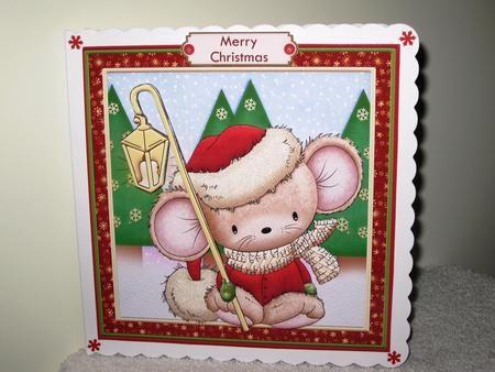 Little Lantern Mouse 7×7 Christmas Mini Kit & Decoupage