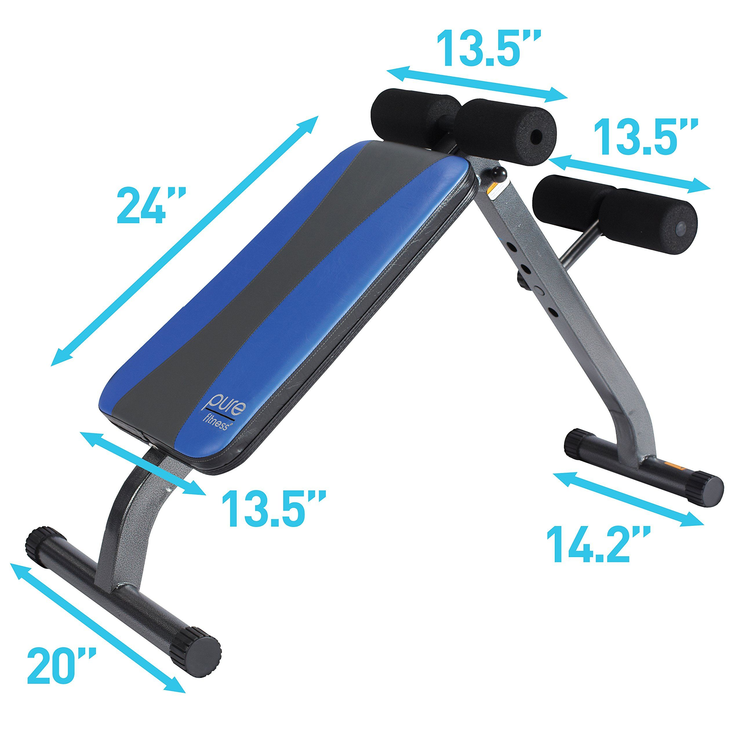 Pure Fitness Weight Training Workout Adjustable Ab Crunch Situp Bench Blue Black Find Out More At The Phot Dumbell Workout Workout Room Home Home Made Gym