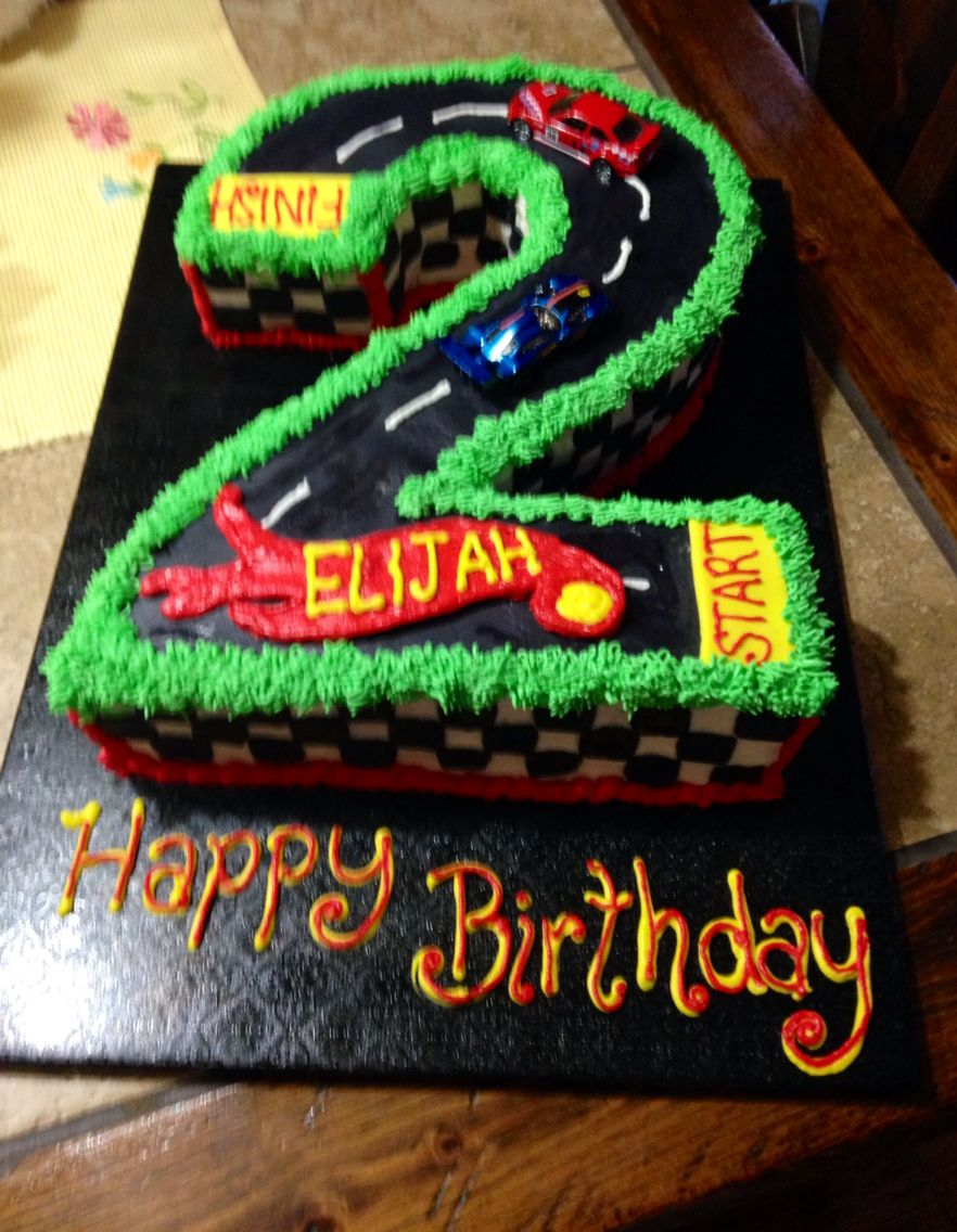 A Hot Wheels Birthday Cake For A 2 Year Old With Images Hot