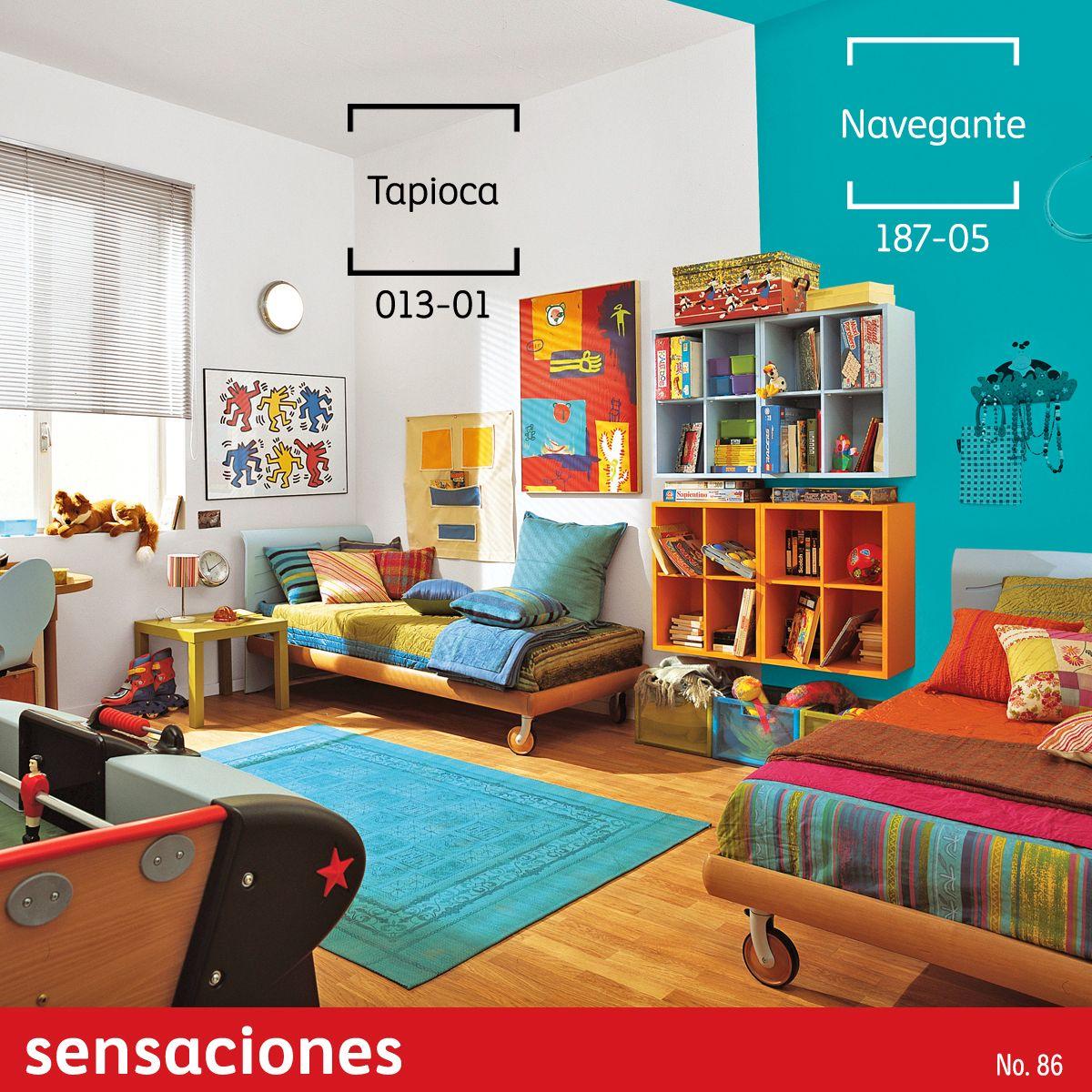 Cuartos compartidos separa con bloques de color y el for Nuevos colores de pinturas para casas