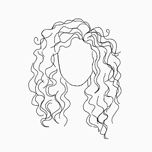 Pinterest Forgotten Stories Curly Haired Girl Head Outline Sketch Aesthetic Line Art Drawings Art Drawings Drawings