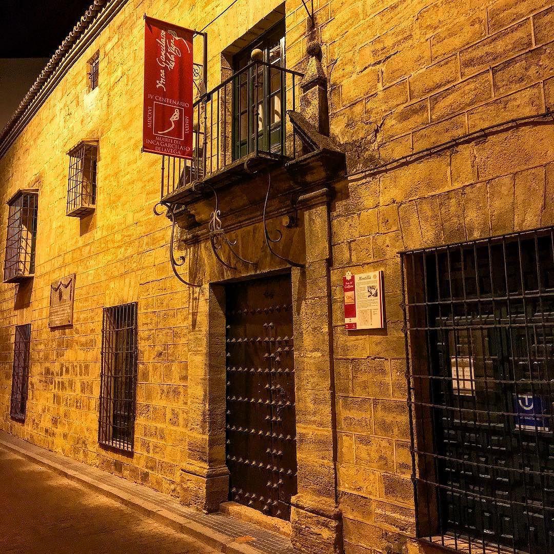 #casamuseo #incagarcilasodelavega en #montilla #paseosnucturnos