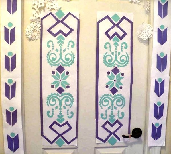 Free Disney #Frozen Printables - Recreate Elsau0027s door using this free pattern. & Frozen Party | Disney frozen Free pattern and Doors