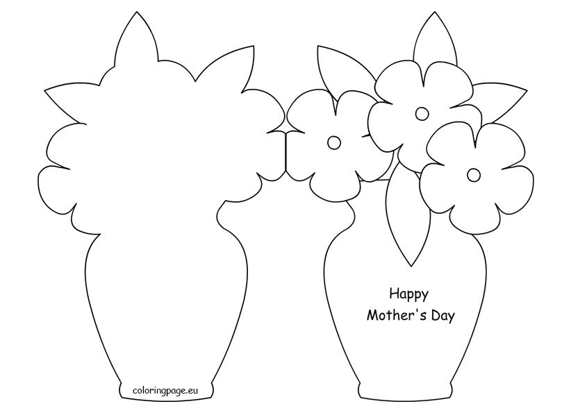 mothers day coloring cards pdf