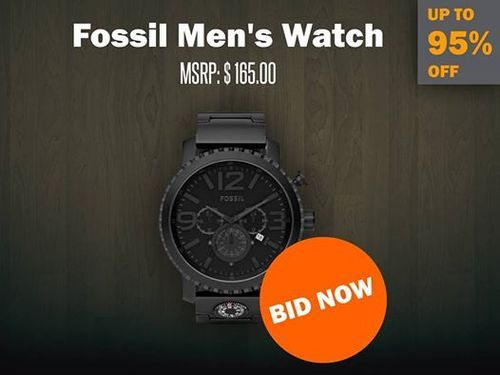 fossil men s watch on online auction website all about watches fossil men s watch on online auction website