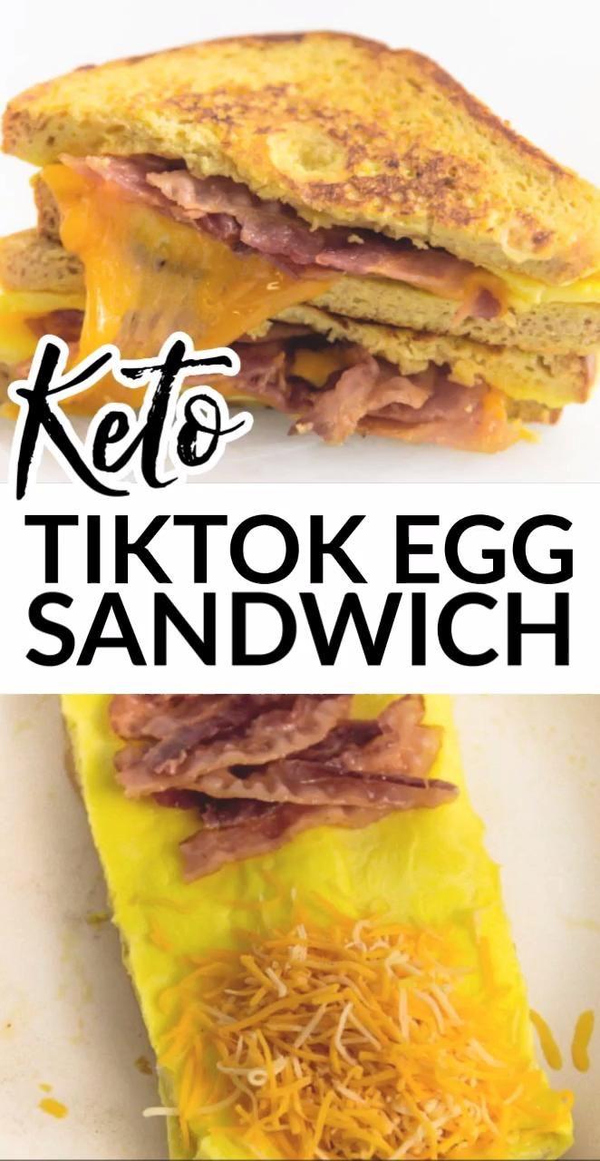 Tik Tok Egg Sandwich Video Recipe Video Keto Recipes Sandwiches Egg Sandwiches