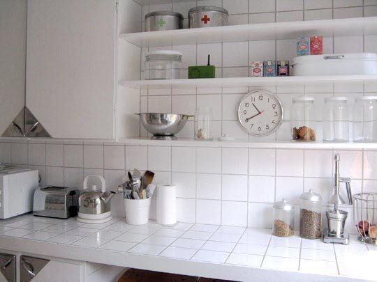 White Kitchen Tile Countertops tiled countertops & matching backsplash: three beautiful examples