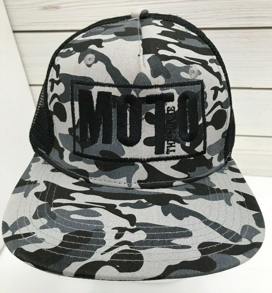 f9e804746f0a1 Moto The Movie Camo Snapback Trucker Hat Embroidered Big X Mesh Cap  BigX   TruckerHat  Casual