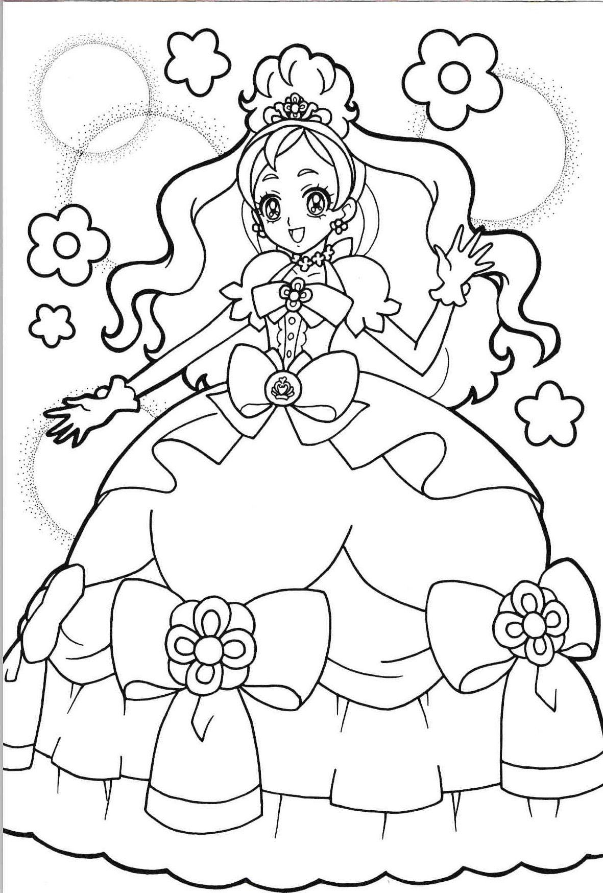 Ausmalbilder Feen Prinzessin : Princess Precure Cure Flora Precure Pinterest Ausmalbilder