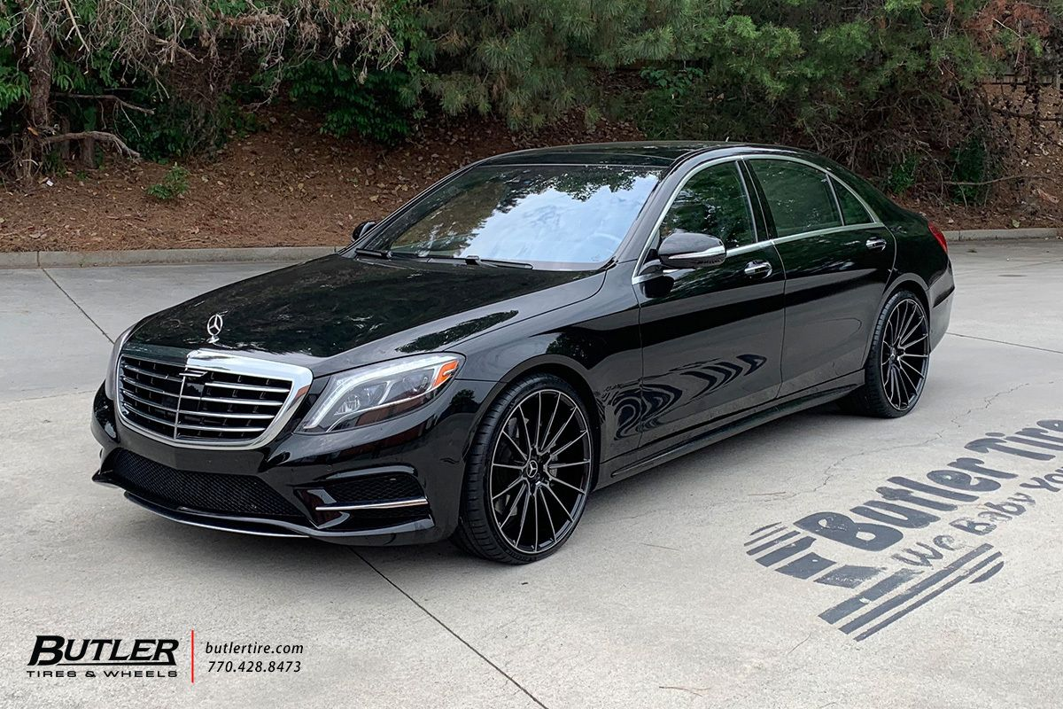 Mercedes S550 With 22in Savini Bm16 Wheels Exclusively From Butler