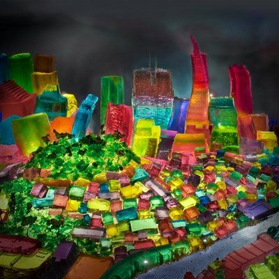 San Francisco sculpted out of Jell-O by Liz Hickock,