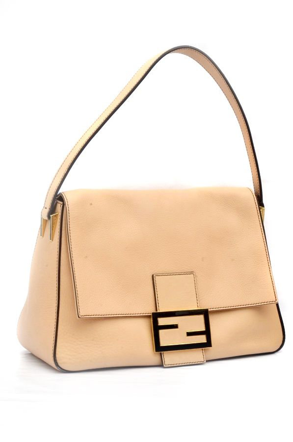 d3baa2dff0f6 Fendi Nude Big Mama Soft Leather Shoulder Bag