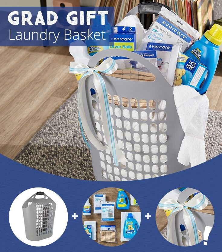 Grad Gift Idea A Laundry Basket Filled With Everything Your Child