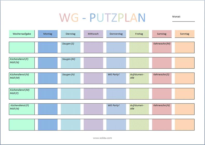 Paare berufstätige putzplan für Putzplan Familien