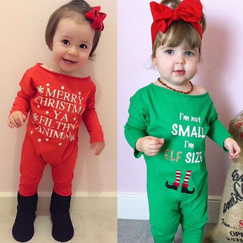 75c732311c84 Long Sleeve Baby Rompers Merry Christmas Letter Printing One Piece Jumpsuit  Casual Autumn Winter Clothing Newborn Baby Outfit                Click on  the ...