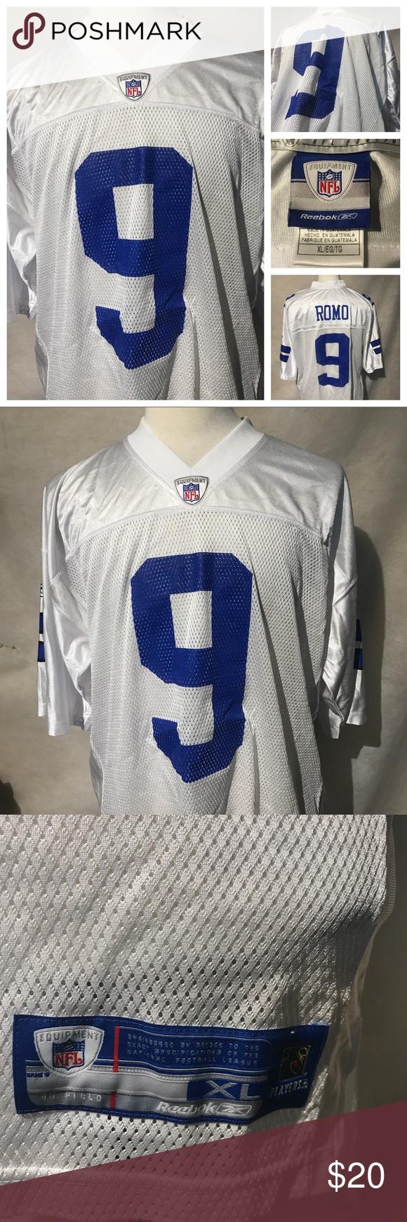 new concept 23437 88365 Dallas Cowboys Tony Romo XL #9 White Jersey A3585 Dallas ...