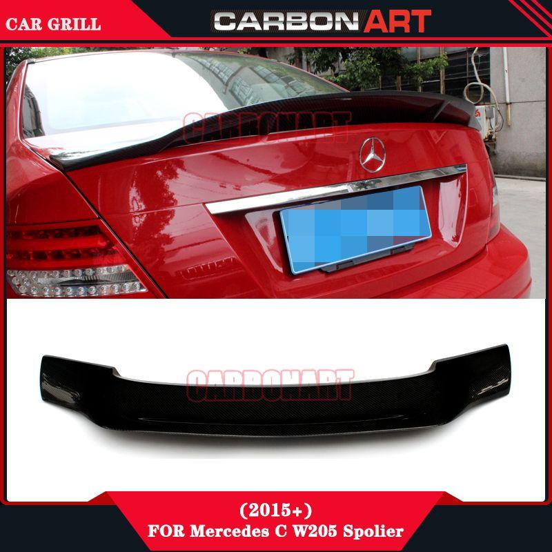 W205 C63 R Carbon Fiber Rear Spoiler For Mercedes Benz C Class W205 2 Door Coupe C180 C200 C230 C280 C300 C350 New C Class Benz C Mercedes Benz