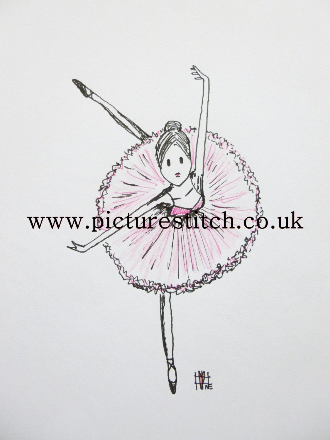 "Embroidery Digital File ""Ballerina Dance"" RESERVE by NicolaElliott on Etsy"