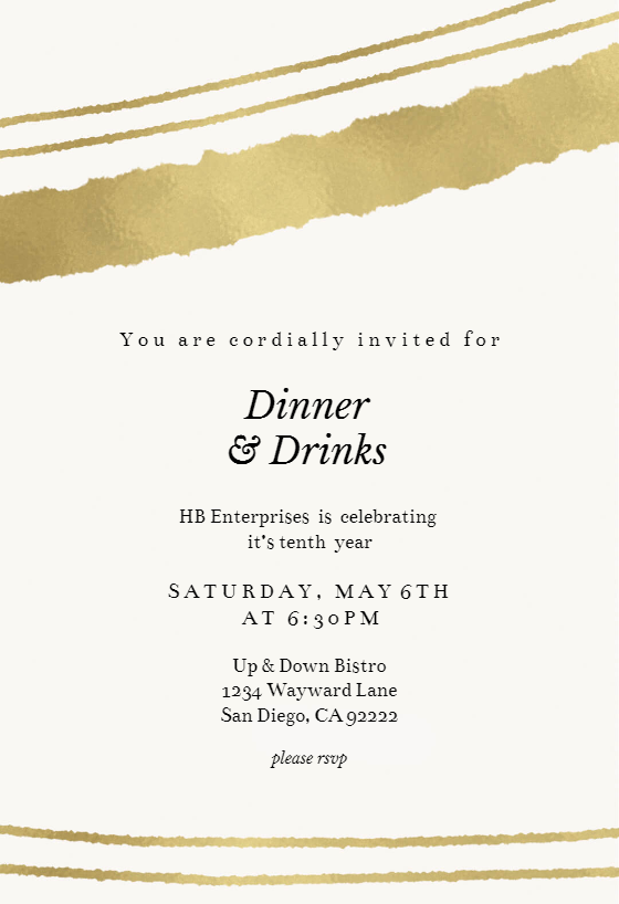 Sprayed Lines Dinner Party Invitation Template Free Greetings Island Dinner Invitation Template Party Invite Template Dinner Party Invitations