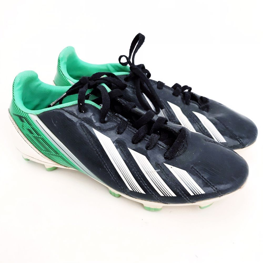 06ef06490 Youth Adidas F-50 F-10 Traxion Soccer Cleats Black Green Youth 3.5Y ...