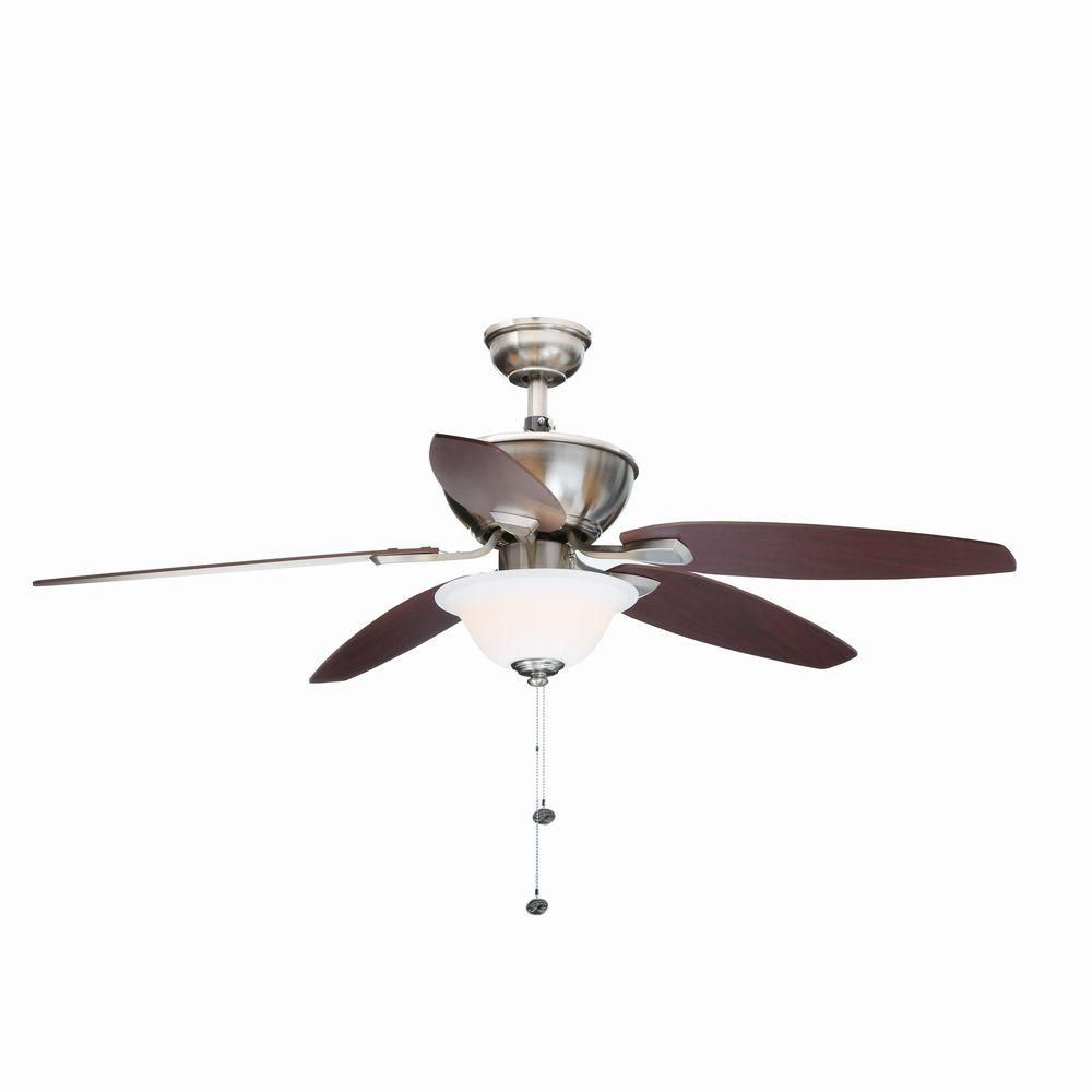 Ceiling Fan With Light Kit Add Uniformity And Balance To Your Decor By Purchasing This Energy Efficient Hampton Bay Carrolton Led