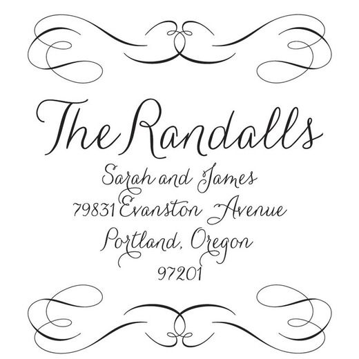 Super Cute 50 Off Coupon Code For Signature Circle Personalized Stamp From Wedding Paper Divas Personalized Stamps Wedding Paper Divas Custom Address Stamp