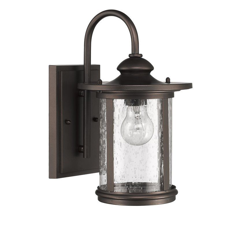 Ashendon 1 Light Outdoor Wall Lantern With Images Outdoor