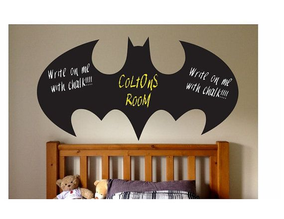 Batman Chalkboard Wall Quote Sign Vinyl Decal By ColtonsPlace