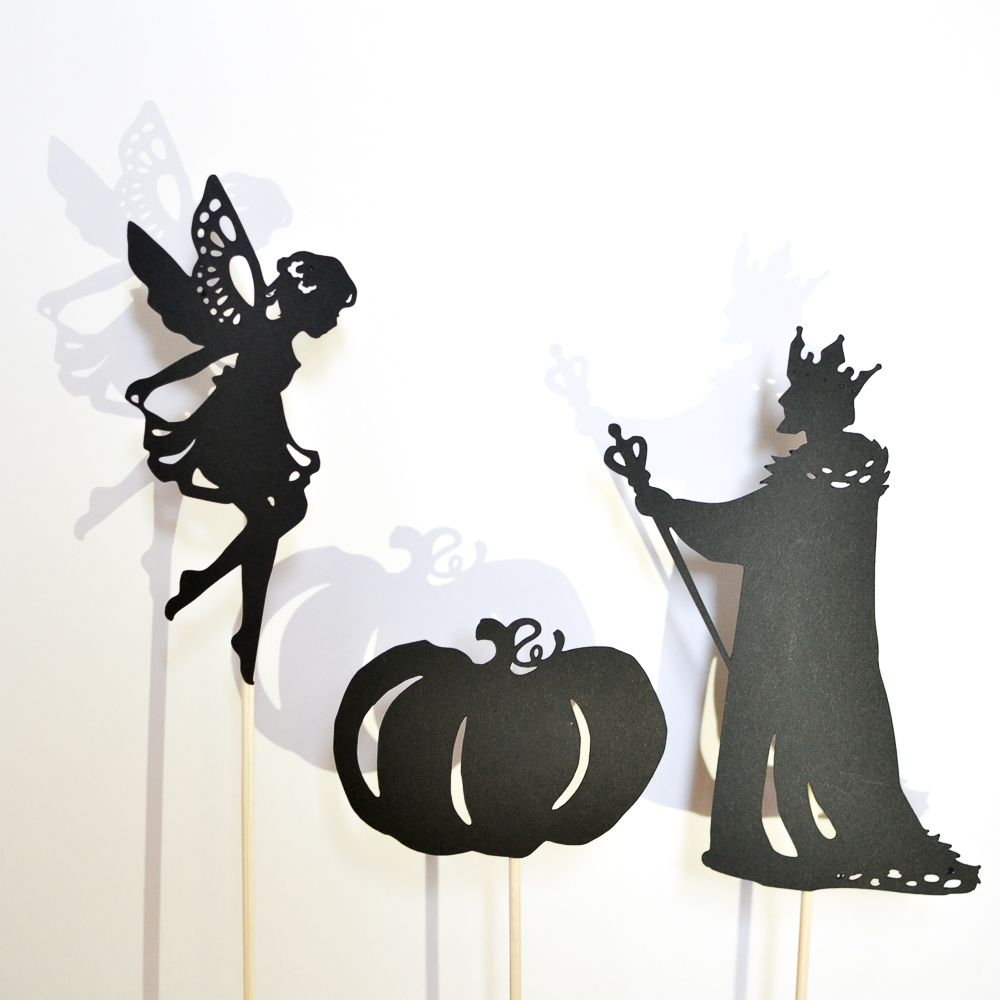 Make-a-Fairy-Tale Shadow Puppet Set: 12 puppets | activities