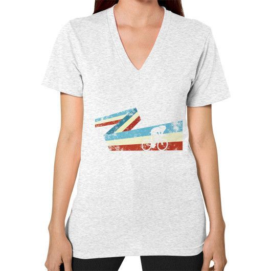 Bicycle racer V-Neck (on woman)