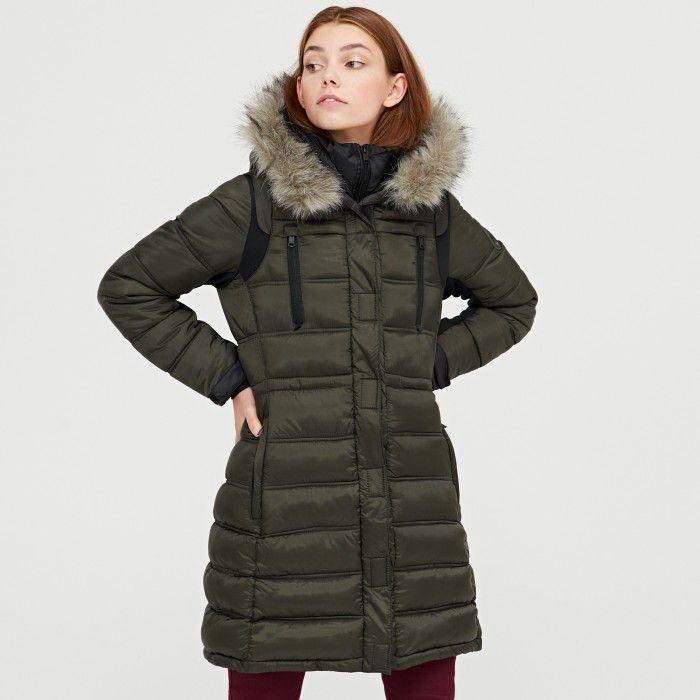 468dd1ddb1cf Prošívaný kabát s kapucí