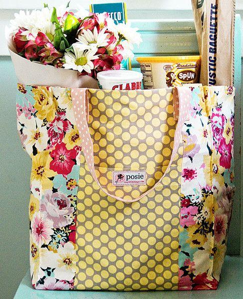 Jane Market Bag Sewing Pattern   Bag sewing patterns, Sewing ...