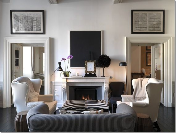 black and white Nice homes and spaces Pinterest Room, Living