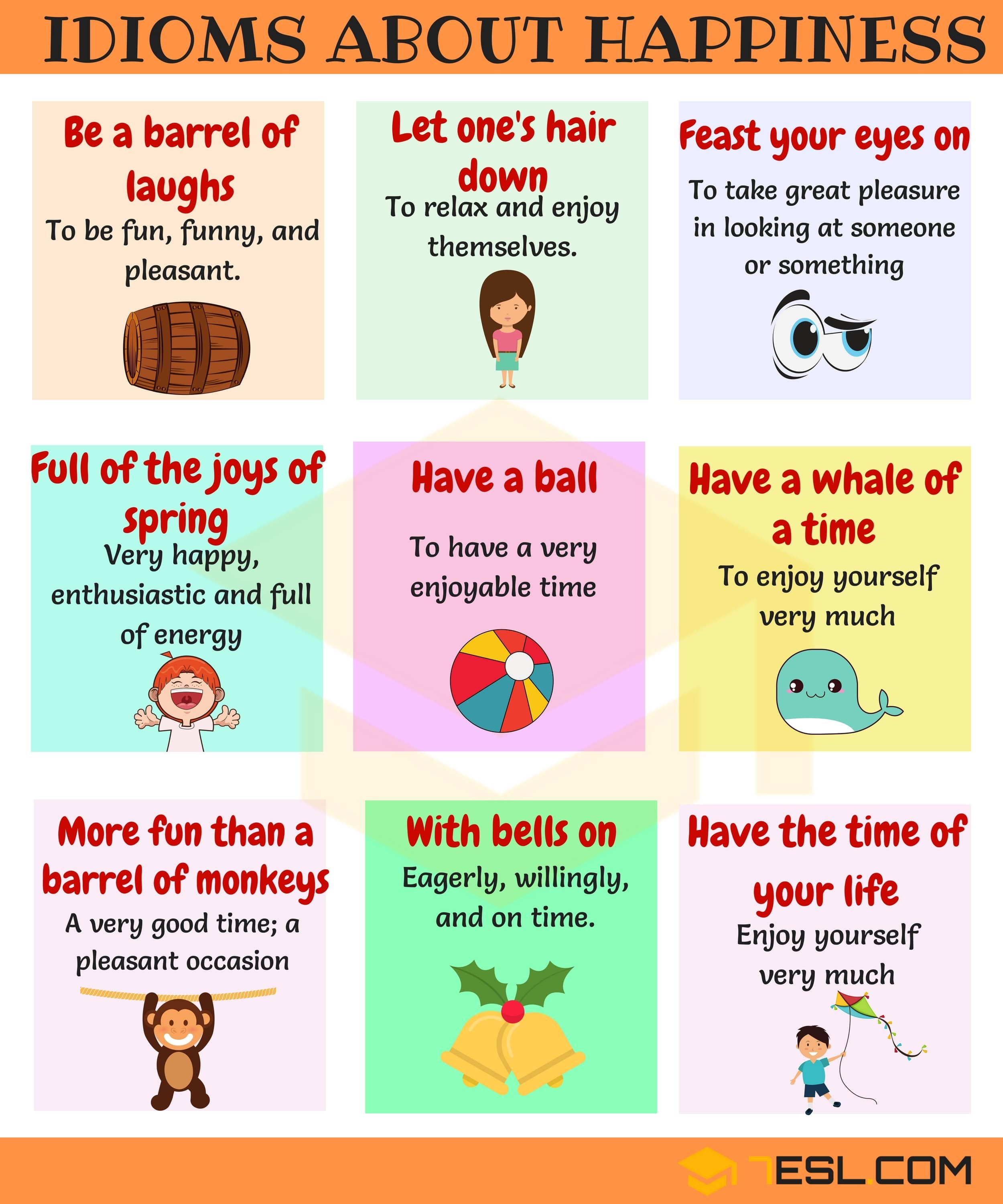 Happy Idioms Useful Phrases Amp Idioms To Express Happiness