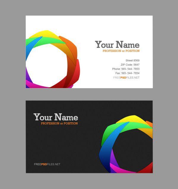 Color Concept Cards Psd