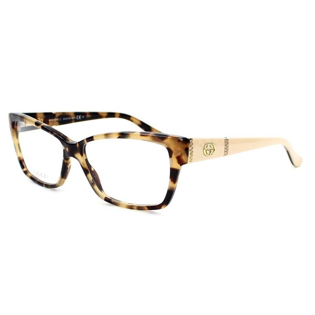 Gucci 3559 0L7B Womens Rectangular Eyeglasses | Dazzling Eyewear ...