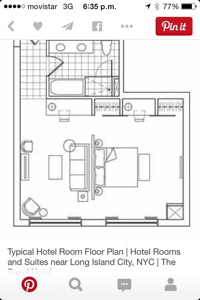 Plano Habitación Hotel NY