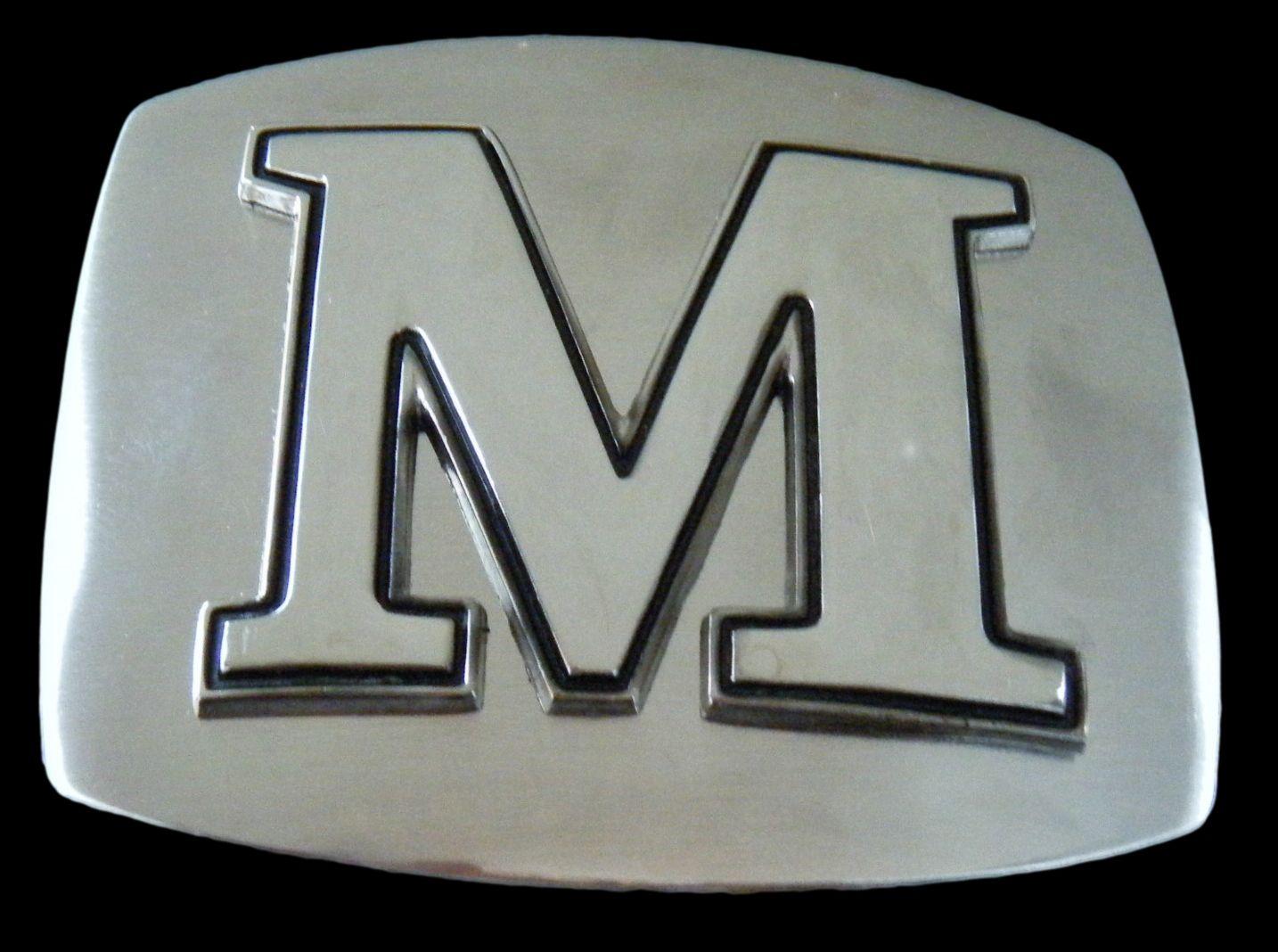 Initial Letter Name M Chrome Belt Buckle Belts Buckles Belt Buckles Initial Belt Buckle Cool Belt Buckles