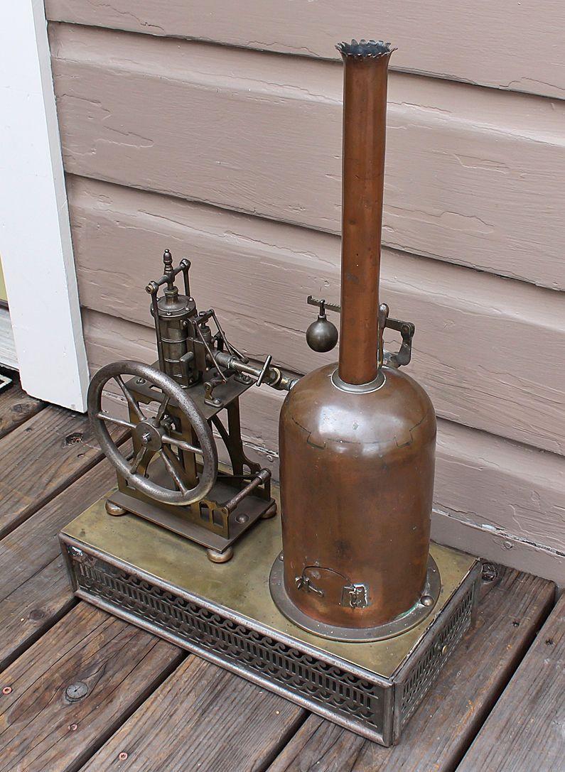 Antique Vintage Salesman Sample Vertical Live Steam Engine Boiler Steam Plant   eBay