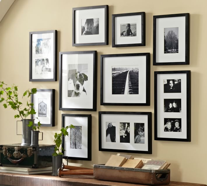 Wood Gallery Frames In A Box Set Of 10 In 2020 Wood Gallery Frames Gallery Wall Frames On Wall