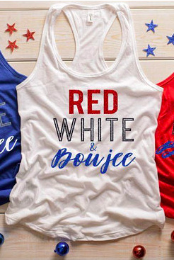 3e1a406bf Red White & Boujee Fourth of July tank top! 4th Of July Shirt | Red ...